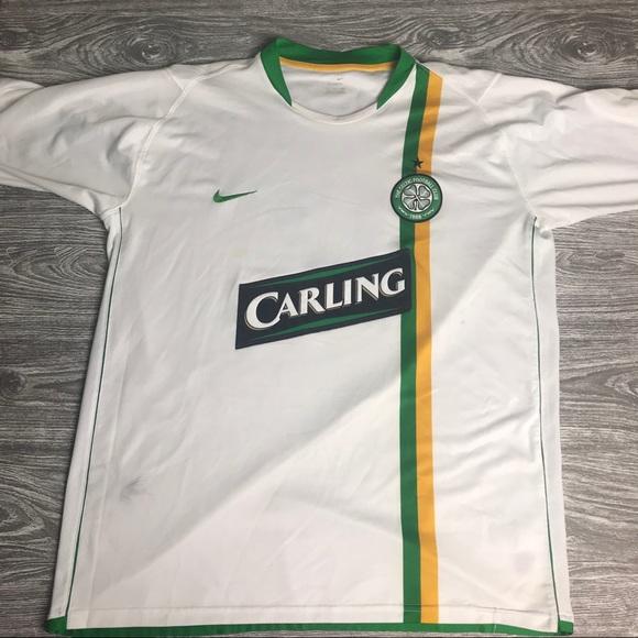 differently 8d4e1 59015 Men's XL NIKE CELTIC FC Jersey Short sleeve Kit
